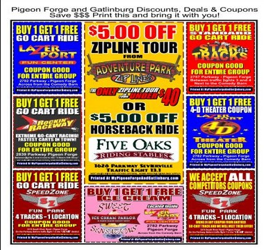 coupons for activities in gatlinburg tn